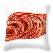 Fettuccine Pasta Throw Pillow