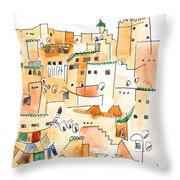 Fez Medina Roofline Throw Pillow