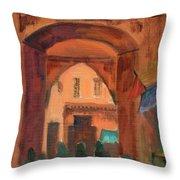 Fez Town Scene Throw Pillow
