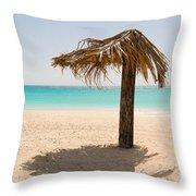 Ffryers Beach Hut Throw Pillow