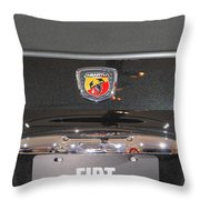 Fiat 500 Abarth Throw Pillow
