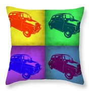 Fiat 500 Pop Art 1 Throw Pillow by Naxart Studio
