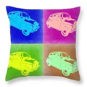 Fiat 500 Pop Art 2 Throw Pillow