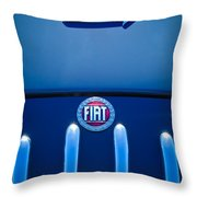 Fiat 750 Mm Zagato Panoramica Coupe Grille Emblem Throw Pillow