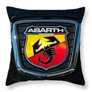 Fiat Abarth Emblem Throw Pillow