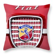 Fiat Emblem 2 Throw Pillow by Jill Reger