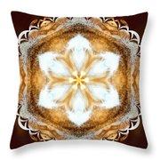 Fiber Optic Gold Throw Pillow