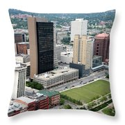 Fiberglass Tower Toledo Ohio Throw Pillow