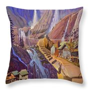 Fibonacci Stairs Throw Pillow