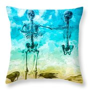 Fickle Finger Of Fate Throw Pillow