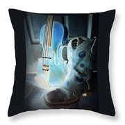 Fiddler's Glow Throw Pillow