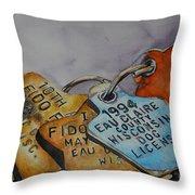 Fido Fun Run Throw Pillow