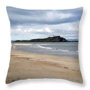 Fidra Island Lighthouse Throw Pillow