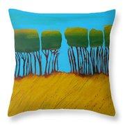 Field 7 Throw Pillow