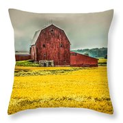 Field And Barn Throw Pillow