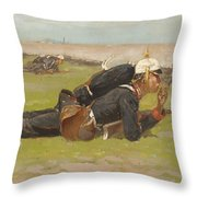 Field Drill For The Prussian Infantry  Throw Pillow