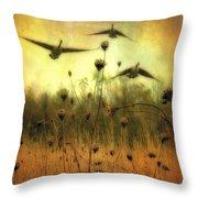 Field Dwellers  Throw Pillow