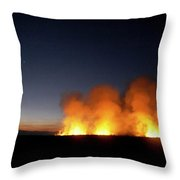 Field Fire. Nchalo, Shire Walley Throw Pillow