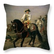 Field Marshal Baron Ernst Von Laudon 1717-90, General In The Seven Years War And War Of Bavarian Throw Pillow
