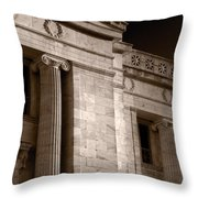 Field Museum Of Chicago Bw Number 2 Throw Pillow