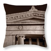 Field Museum Of Chicago Bw Throw Pillow