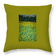 Field Of Daisy's Throw Pillow