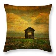 Field Of Dandelions Throw Pillow