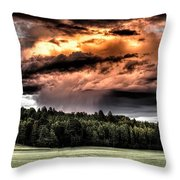 Field Of Dreams From Rain Above  Throw Pillow
