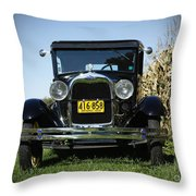 Field Of Dreams Vintage Ford Model A Tudor  Throw Pillow