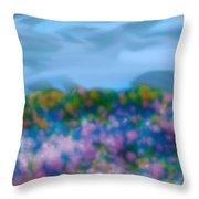 Field Of Flowers Throw Pillow by Tanya Jacobson-Smith