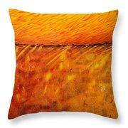 Field Of Gold Throw Pillow