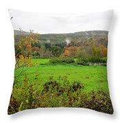 Field Of Green Throw Pillow