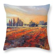 Field Of Light Oil Painting Throw Pillow
