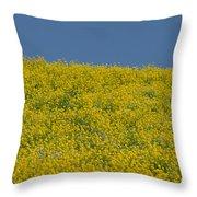 Field Of Mustard Throw Pillow