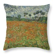 Field Of Poppies, Auvers-sur-oise, 1890 Throw Pillow