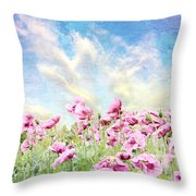 Field Of Poppies Stillliefe Throw Pillow