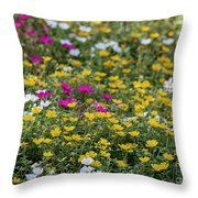 Field Of Pretty Flowers Throw Pillow