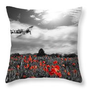 Field Of Red Throw Pillow
