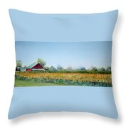 Field Of Sunshine Throw Pillow