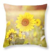 Field Of Sunshine Throw Pillow