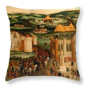 Field Of The Cloth Of Gold Throw Pillow