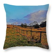 Field Of The Cotswold Throw Pillow