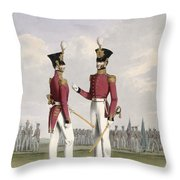 Field Officers Of The Royal Marines Throw Pillow