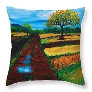 Field Road Throw Pillow