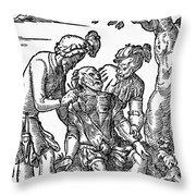 Field Surgeon, 1547 Throw Pillow
