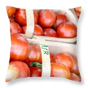 Field Tomatoes Throw Pillow