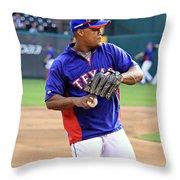 Fielding Practice Throw Pillow