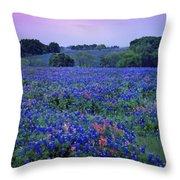 Fields Of Blue Throw Pillow