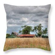 Fields Of Golden Grain Throw Pillow