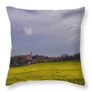 Fields Of Rapeseed In Bloom, Lower Throw Pillow